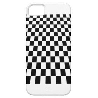tablero de damas blanco y negro iPhone 5 fundas
