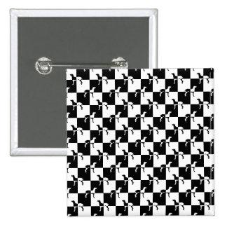 Tablero de damas blanco y negro Weimaraner Chapa Cuadrada 5 Cm
