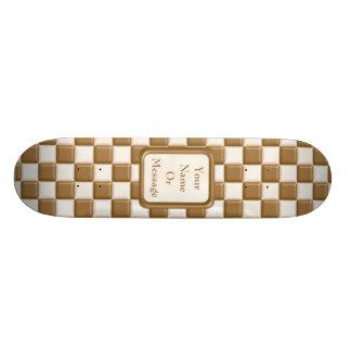 Tablero de damas - chocolate con leche y chocolate patineta personalizada