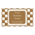 Tablero de damas - chocolate con leche y chocolate tarjetas de visita
