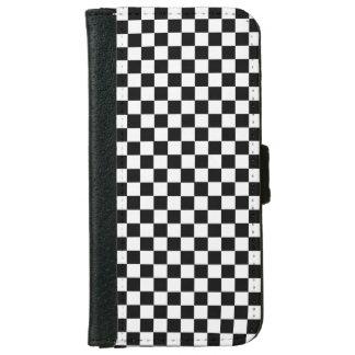 Tablero de damas clásico blanco y negro carcasa de iPhone 6