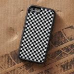 Tablero de damas clásico blanco y negro funda de iPhone 6 tough xtreme