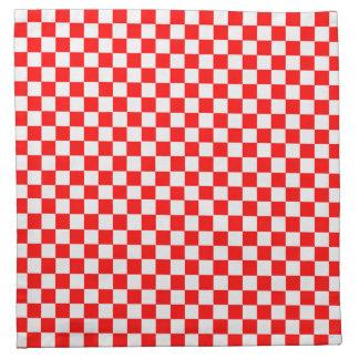 Tablero de damas clásico rojo y blanco servilletas imprimidas