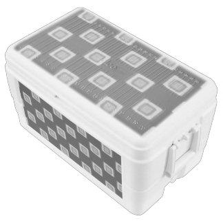 Tablero de damas de grises refrigerador de 48 cofre de hielo