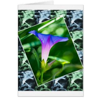 Tablero de damas de la correhuela y flor apilada tarjeta de felicitación