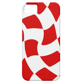 Tablero de damas de la deformación del rojo y del iPhone 5 Case-Mate cobertura