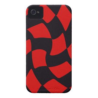 Tablero de damas de la deformación del rojo y del Case-Mate iPhone 4 coberturas