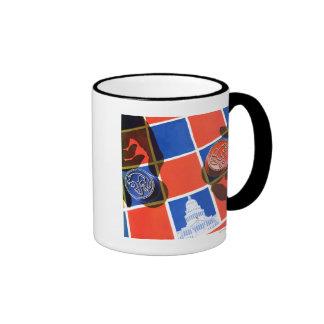 Tablero de damas de la elección tazas de café
