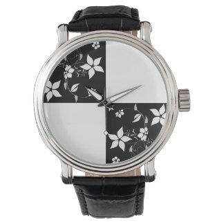 TABLERO DE DAMAS de las VIDES (un diseño negro y Relojes