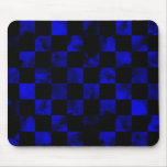 Tablero de damas de mármol azul alfombrillas de raton