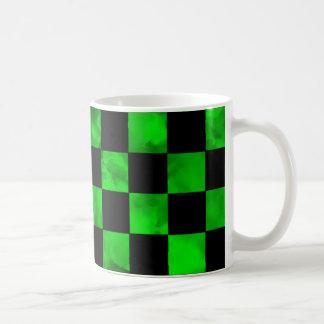 Tablero de damas de mármol verde taza