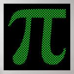 Tablero de damas del pixel del pi impresiones