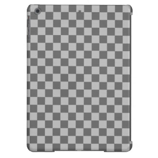 Tablero de damas gris de la obra clásica de la funda para iPad air