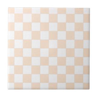 Tablero de damas ligero de la sopa de mariscos azulejo cuadrado pequeño