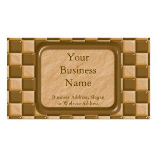 Tablero de damas - mantequilla de cacahuete del ch plantilla de tarjeta personal