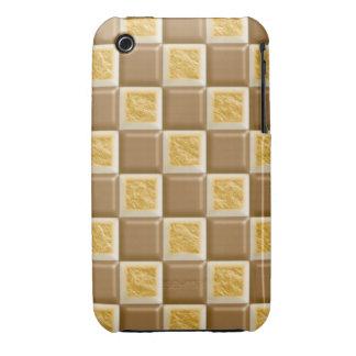 Tablero de damas - melcocha del chocolate funda para iPhone 3 de Case-Mate