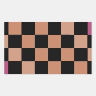 Tablero de damas moderno del inconformista pegatina rectangular