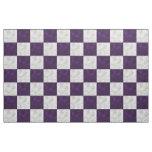 Tablero de damas ondulado púrpura y blanco - tela