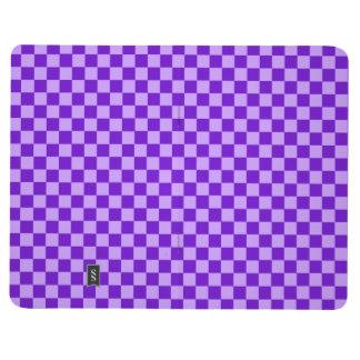Tablero de damas púrpura de la obra clásica de la cuaderno