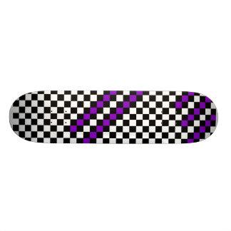 Tablero de damas púrpura de la raya patin personalizado