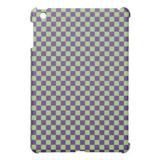 Tablero de damas púrpura y verde