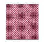 Tablero de damas retro rosado del punto bloc de papel