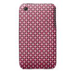 Tablero de damas retro rosado del punto Case-Mate iPhone 3 fundas