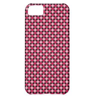 Tablero de damas retro rosado del punto funda iPhone 5C