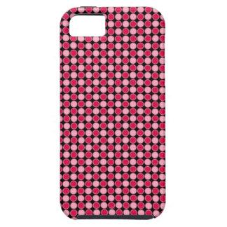 Tablero de damas retro rosado del punto funda para iPhone SE/5/5s