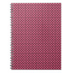 Tablero de damas retro rosado del punto libro de apuntes