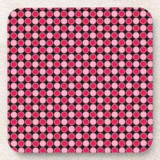 Tablero de damas retro rosado del punto posavasos de bebida