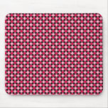 Tablero de damas retro rosado del punto alfombrilla de raton