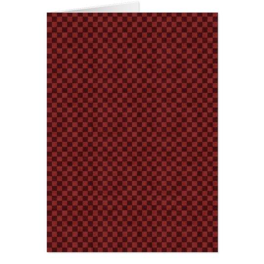 Tablero de damas rojo tarjeta de felicitación