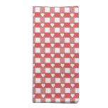 Tablero de damas rojo y blanco con las servilletas