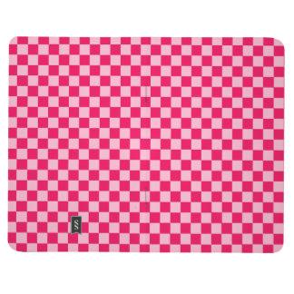 Tablero de damas rosado de la obra clásica de la cuadernos