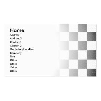 Tablero de damas texturizado simple tarjetas de visita