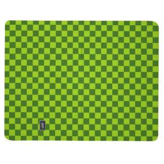 Tablero de damas verde de la obra clásica de la cuaderno