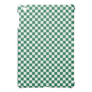 Tablero de damas verde y blanco