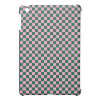 Tablero de damas verde y rosado