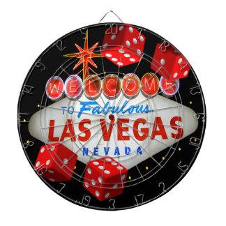 Tablero de dardo afortunado de Las Vegas
