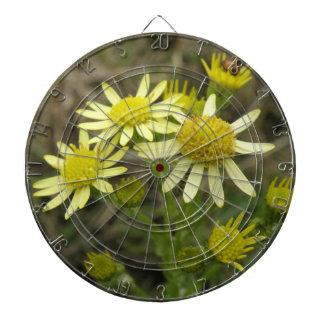 Tablero de dardo amarillo bonito de los Wildflower