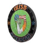 Tablero de dardo americano irlandés de la arpa tablero de dardos