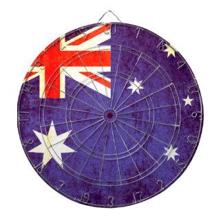 Tablero de dardo antiqued bandera australiana del  tablero de dardos