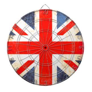Tablero de dardo antiqued bandera BRITÁNICA