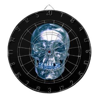 Tablero de dardo azul del cráneo del cromo