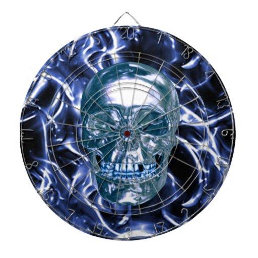 Tablero de dardo azul eléctrico del cráneo del cro tabla dardos
