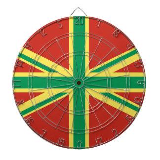 Tablero de dardo BRITÁNICO de la bandera de Rasta Tabla Dardos