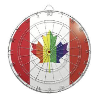Tablero de dardo canadiense gay de la bandera