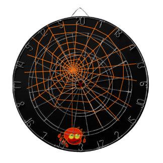 Tablero de dardo de Halloween del Web de araña