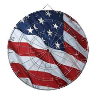 Tablero de dardo de la bandera americana tablero dardos